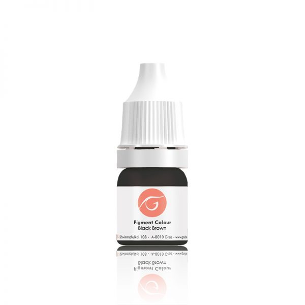 Gaube Kosmetik pigmentas OL Black Brown, 10ml