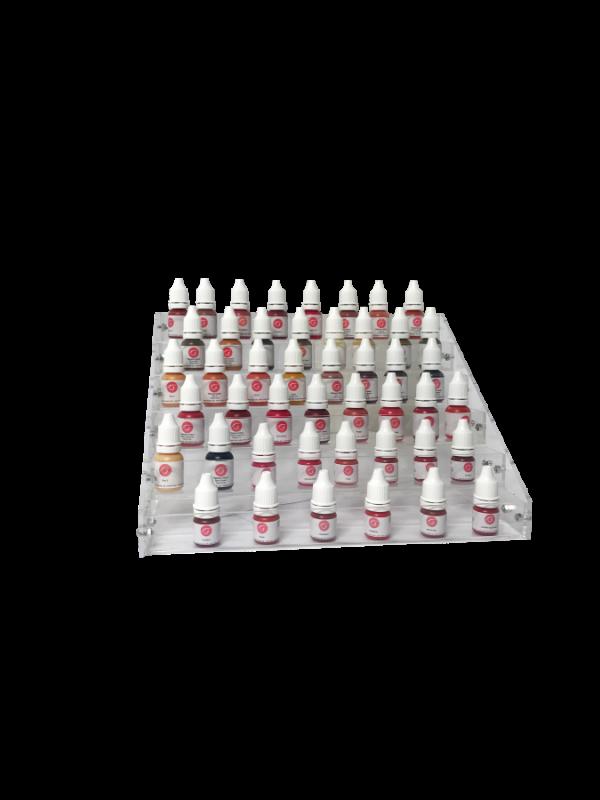 Pigmentų buteliukų stovas